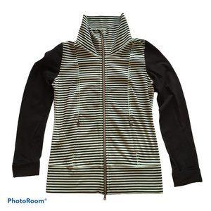 LULULEMON Stripe Mint & Black Daily Yoga Jacket, 6
